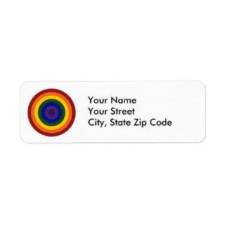 Rainbow Bullseye Label