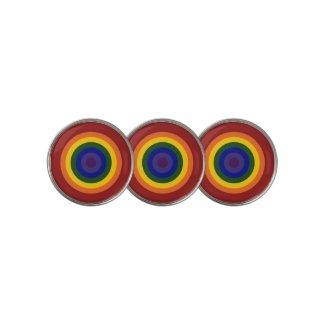 Rainbow Bullseye LGBTQ Pride Golf Ball Marker