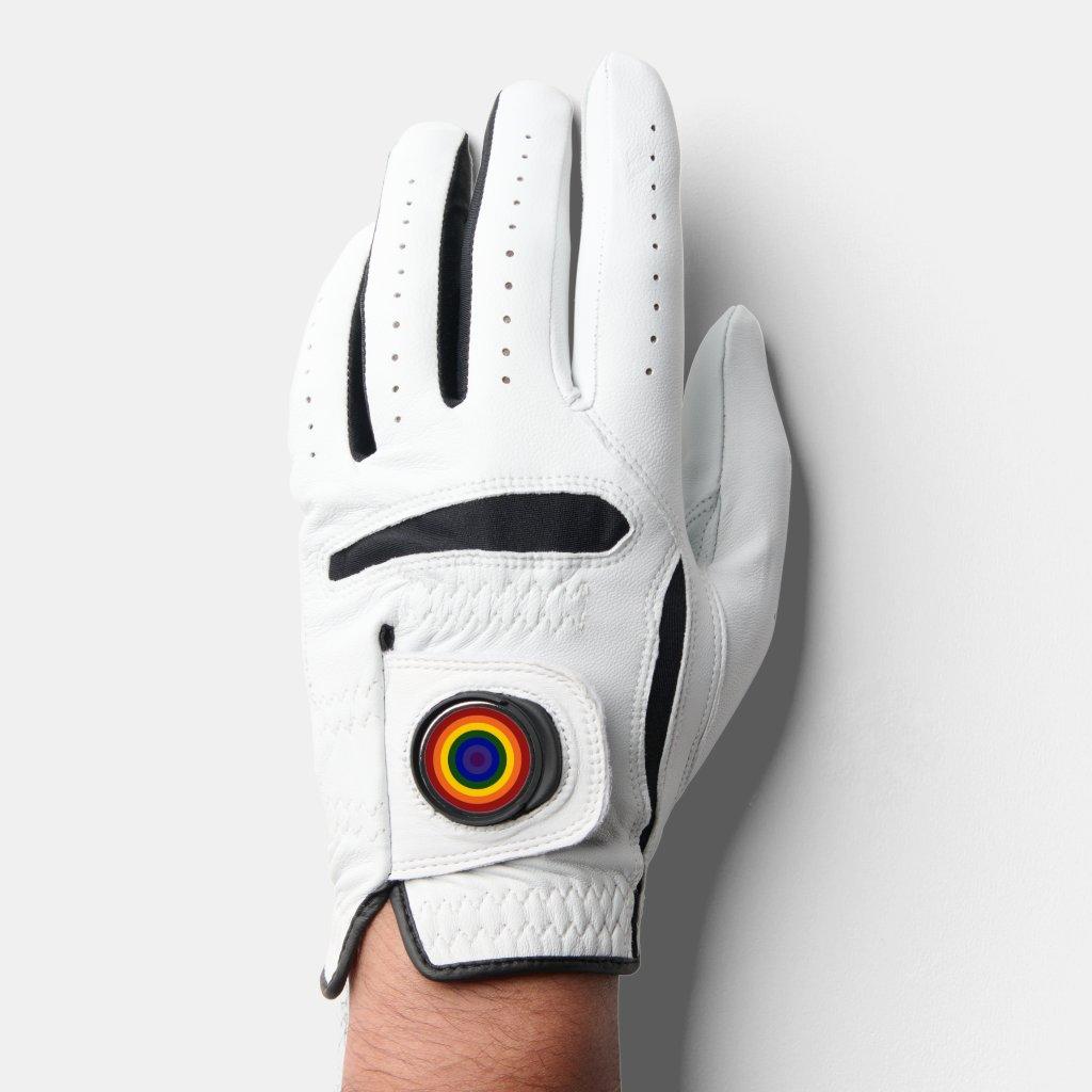 Rainbow Bullseye LGBTQ Pride Golf Glove
