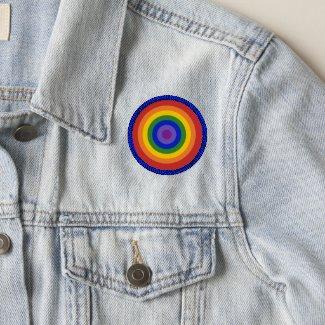 Rainbow Bullseye LGBTQ Pride Patch