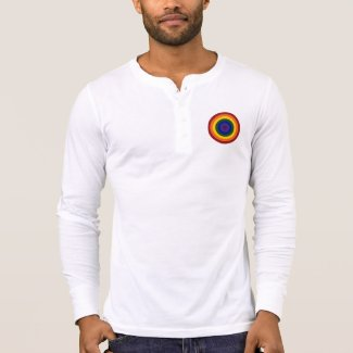 Rainbow Bullseye long sleeve shirt