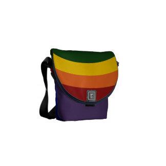 Rainbow Bullseye Messenger Bag