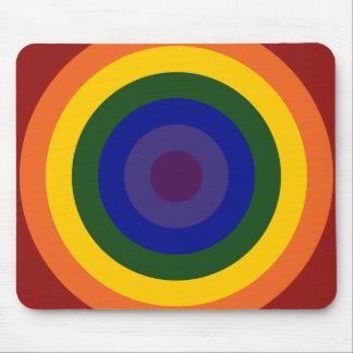 Rainbow Bullseye Mouse Pad