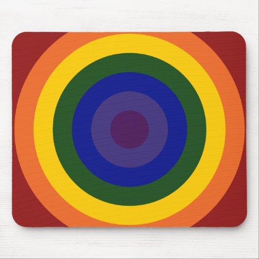 Rainbow Bullseye Mousepads