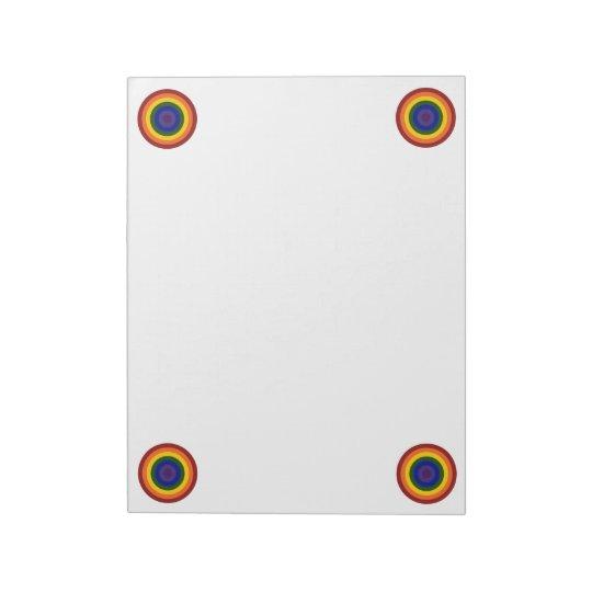 Rainbow Bullseye Notepad