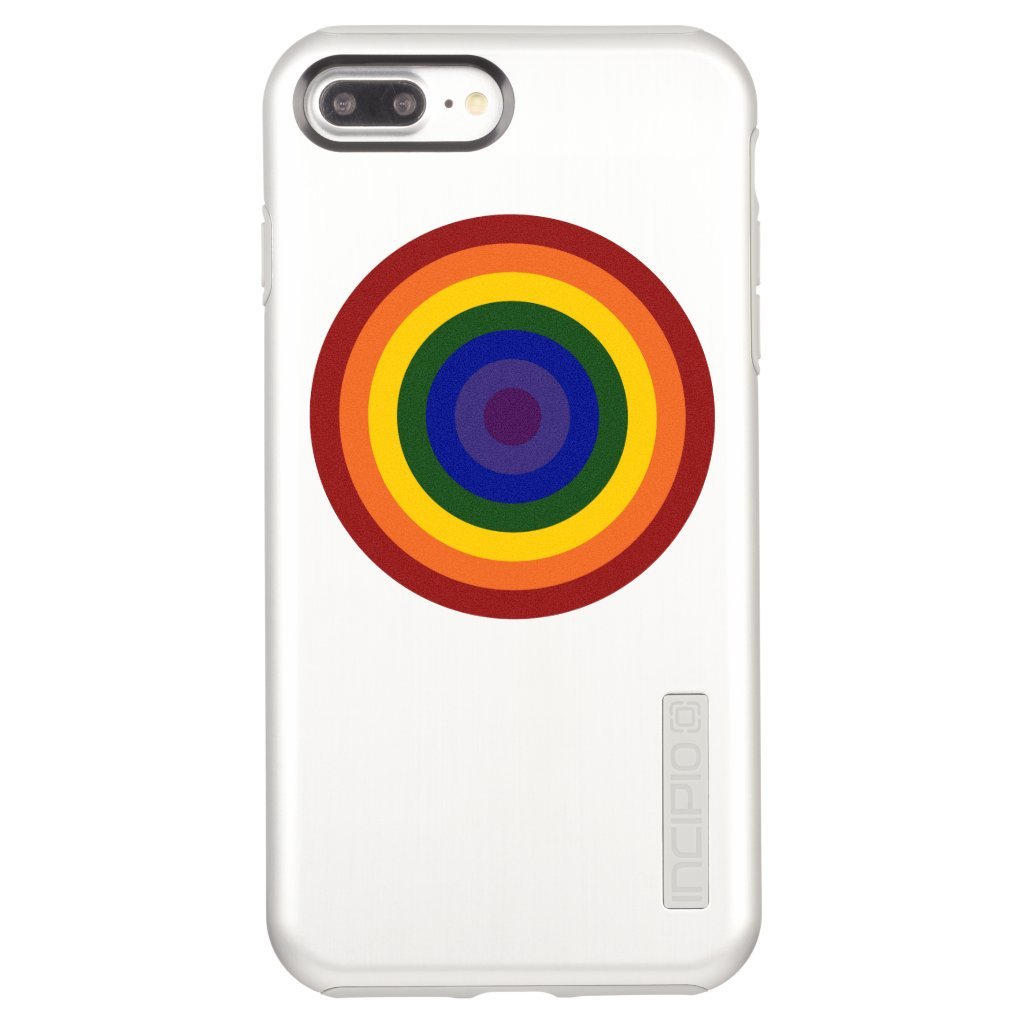 Rainbow Bullseye on Silver Case