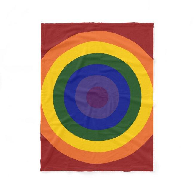 Rainbow Bullseye Pattern
