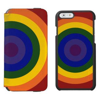 Rainbow Bullseye Pattern Incipio Watson™ iPhone 6 Wallet Case