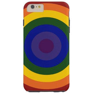 Rainbow Bullseye Pattern iPhone 6 Plus Tough Case