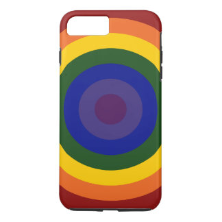 Rainbow Bullseye Pattern iPhone 7 Plus Tough Case