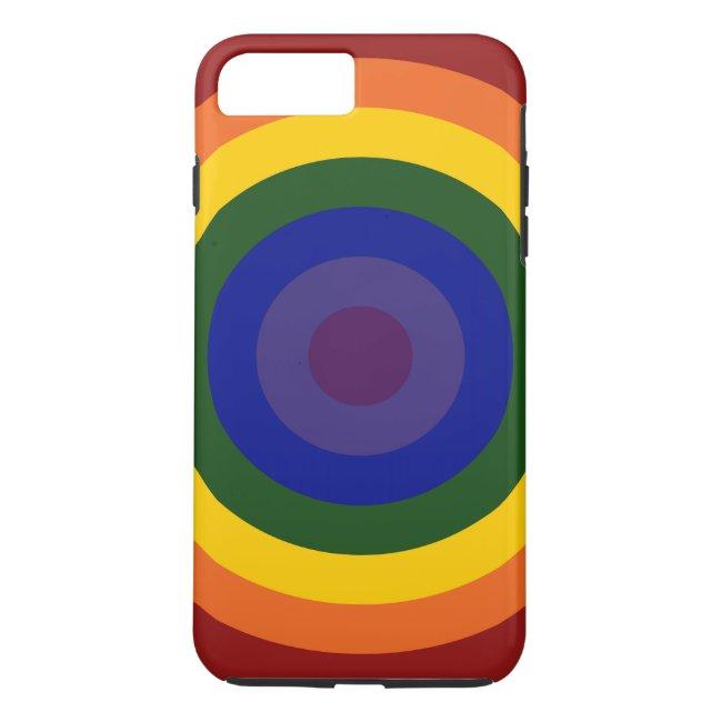 Rainbow Bullseye Pattern iPhone 7 Plus Tough Case