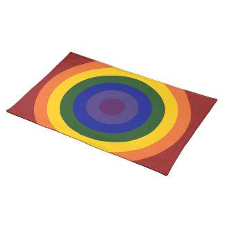 Rainbow Bullseye Place Mat