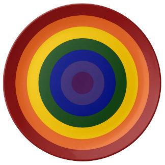 Rainbow Bullseye Porcelain Plate