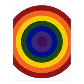 Rainbow Bullseye Postcard