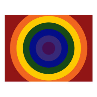 Rainbow Bullseye Postcards
