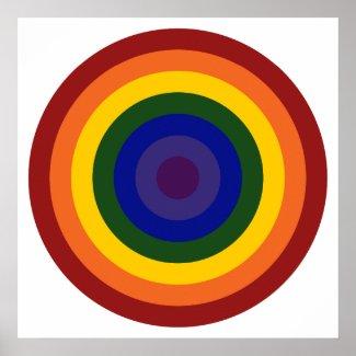 Rainbow Bullseye Poster