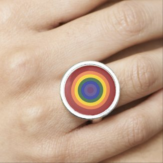 Rainbow Bullseye Rings
