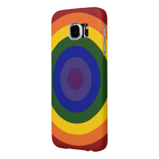 Rainbow Bullseye Samsung Galaxy S6 Cases