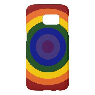Rainbow Bullseye Samsung Galaxy S7 Case