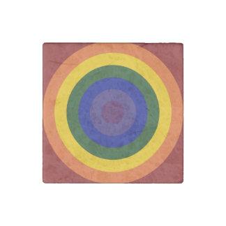Rainbow Bullseye Stone Magnet