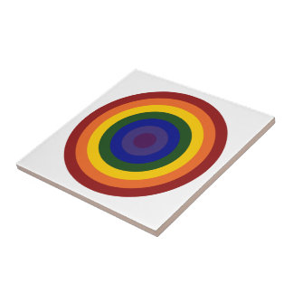 Rainbow Bullseye Tile