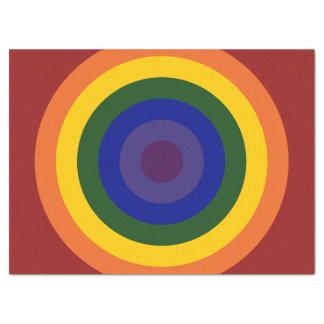 Rainbow Bullseye Tissue Paper