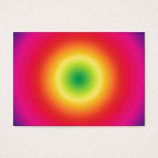Rainbow Bullseye Tye-Dye Look Business Card