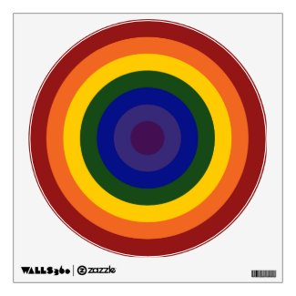 Rainbow Bullseye Wall Decal