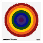 Rainbow Bullseye Wall Decal<br><div class='desc'>Concentric circles form a rainbow colored bullseye. The outermost circle is red,  followed by orange,  yellow,  green,  blue,  indigo,  and ending with violet in the center. Celebrate your LGBT pride or your love of rainbows!    Digitally created 7500 x 7500 pixel image.   Copyright &#169;2011 Claire E. Skinner,  All rights reserved.</div>