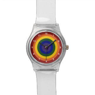Rainbow Bullseye Wrist Watches