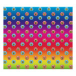 Rainbow bumblebee pattern posters