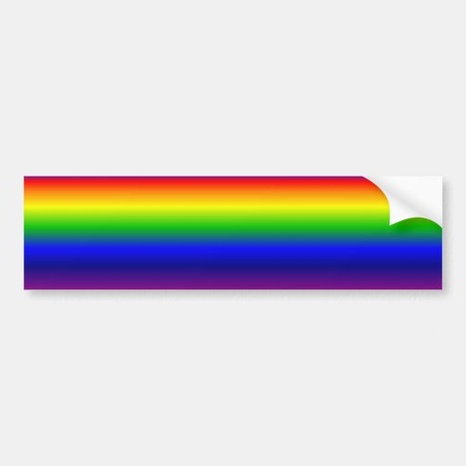 Rainbow Bumper Sticker
