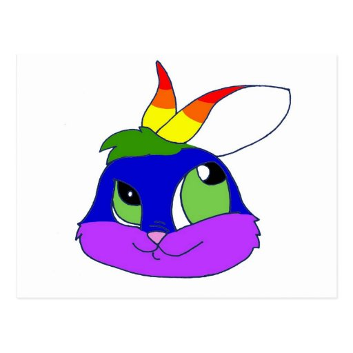 Rainbow Bunneh Post Cards