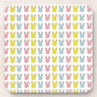 Rainbow Bunnies Beverage Coaster