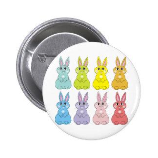 Rainbow Bunnies Button