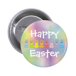 Rainbow Bunnies Pinback Button
