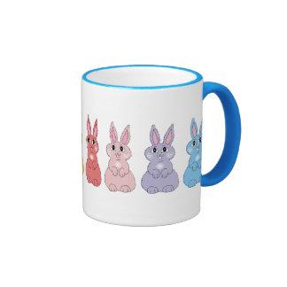 Rainbow Bunnies Ringer Mug