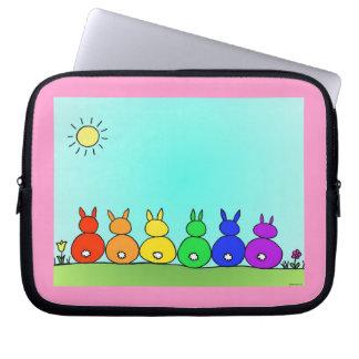 """""""Rainbow Bunny Family"""" Laptop Sleeve (10 Inch)"""