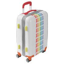 Rainbow Bunny Rabbits Bunny Tail Silhouette Luggage