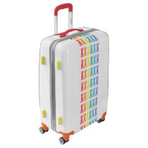 Rainbow Bunny Rabbits Bunny Tail Silhouette Luggage