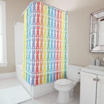 Rainbow Bunny Rabbits Silhouette Cute Kids Shower Curtain