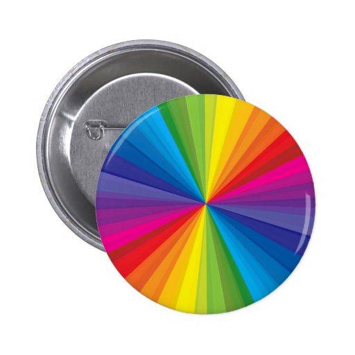 Rainbow Burst 2 Inch Round Button