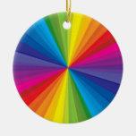 Rainbow Burst Ceramic Ornament