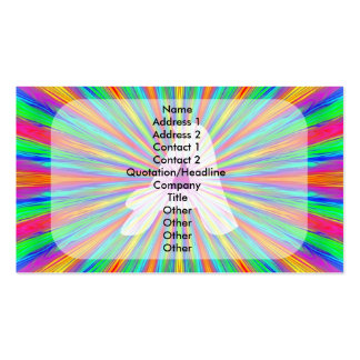Rainbow Burst Monogram A Business Card