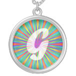 Rainbow Burst Monogram G Necklaces