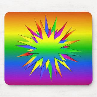 Rainbow Burst mousepad