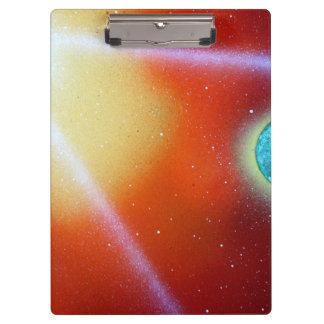 rainbow burst small planet spray painting sun clipboard