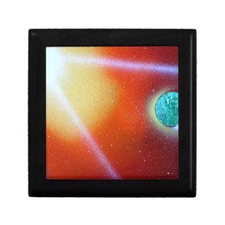 rainbow burst small planet spray painting sun jewelry boxes