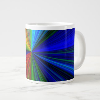 Rainbow burst 20 oz large ceramic coffee mug