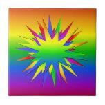 Rainbow Burst tile, customize